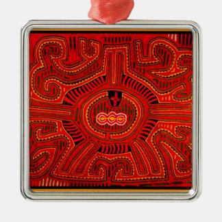 Mola Design by San Blas Indians Metal Ornament