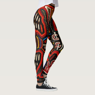 Mola leggings are boho, arty and colorful