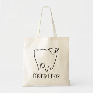 Molar Bear Polar Tooth Bear Budget Tote Bag