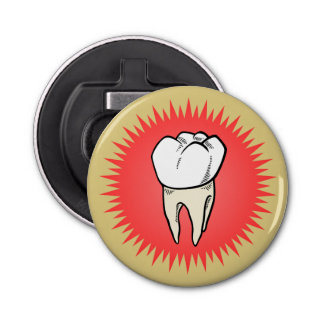 Molar freshly extracted bottle opener