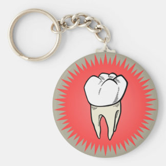 Molar freshly extracted keychain