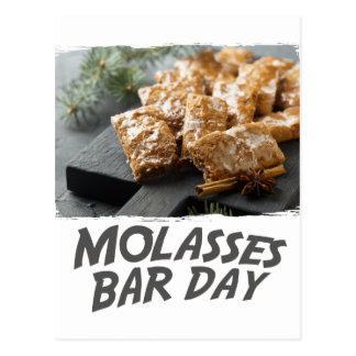 Molasses Bar Day - Appreciation Day Postcard