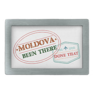 Moldova Been There Done That Rectangular Belt Buckle