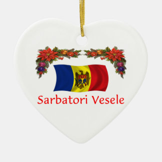 Moldova Christmas Ceramic Ornament