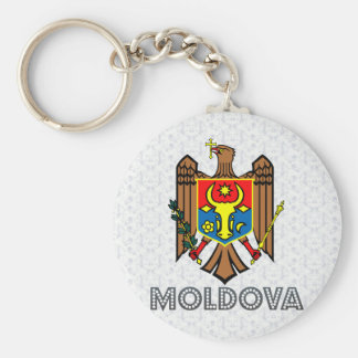 Moldova Coat of Arms Basic Round Button Keychain
