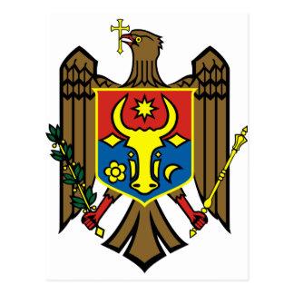 Moldova coat of arms postcard