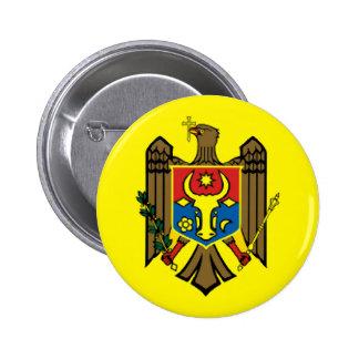 Moldova country flag nation symbol republic 2 inch round button