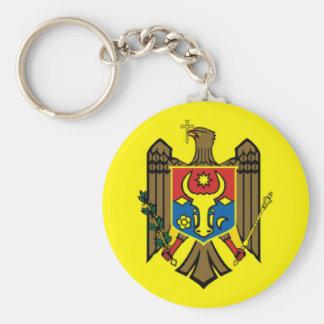 Moldova country flag nation symbol republic basic round button keychain