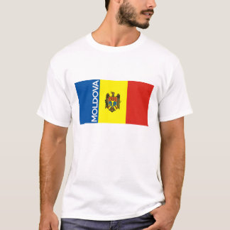 moldova country flag text name T-Shirt