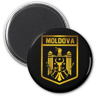 Moldova Emblem 2 Inch Round Magnet