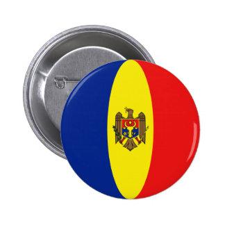 Moldova Fisheye Flag Button