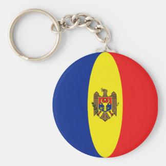 Moldova Fisheye Flag Keychain