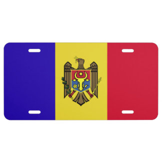 Moldova Flag 1 License Plate