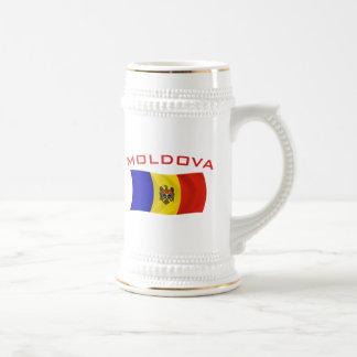 Moldova Flag 2 Beer Stein