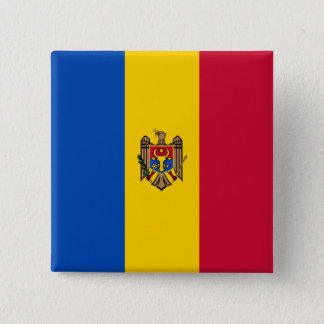 Moldova Flag 2 Inch Square Button