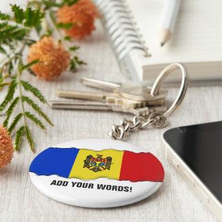 Moldova Flag Basic Round Button Keychain