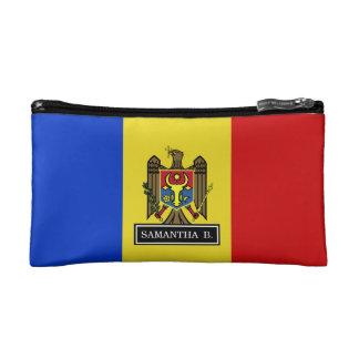 Moldova Flag Cosmetics Bags