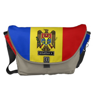 Moldova Flag Courier Bags