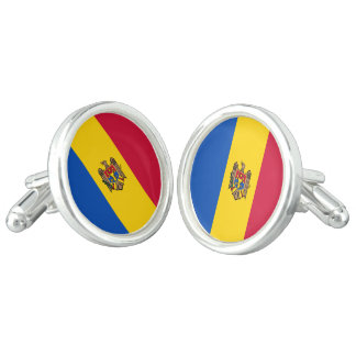 Moldova Flag Cuff Links