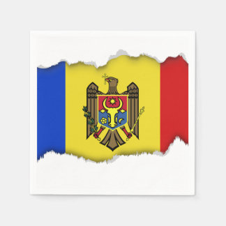 Moldova Flag Disposable Napkins
