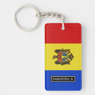 Moldova Flag Double-Sided Rectangular Acrylic Keychain
