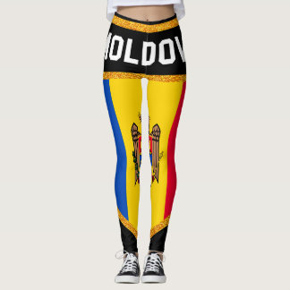 Moldova Flag Leggings