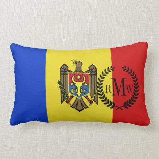 Moldova Flag Lumbar Pillow