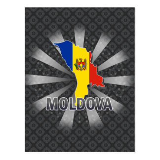 Moldova Flag Map 2.0 Postcard