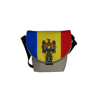 Moldova Flag Messenger Bag
