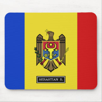 Moldova Flag Mouse Pad