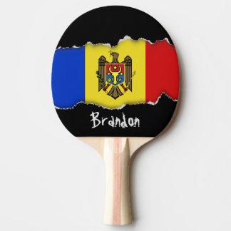 Moldova Flag Ping Pong Paddle