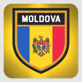 Moldova Flag Square Sticker