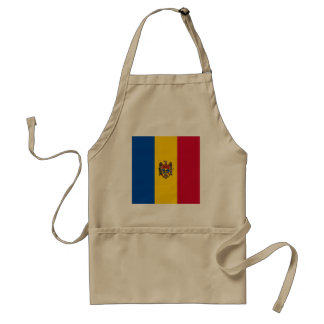 Moldova Flag Standard Apron