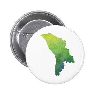 Moldova Map 2 Inch Round Button