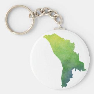 Moldova Map Basic Round Button Keychain