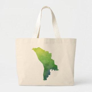 Moldova Map Large Tote Bag
