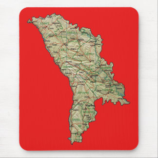 Moldova Map Mousepad