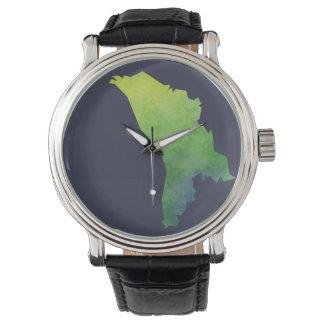 Moldova Map Wrist Watch