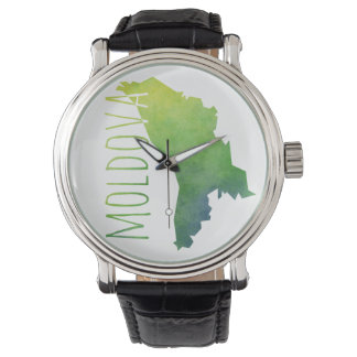 Moldova Map Wristwatch