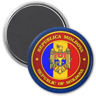 Moldova Medallion 3 Inch Round Magnet