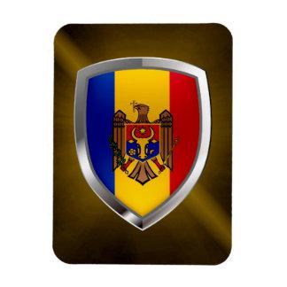 Moldova Metallic Emblem Magnet