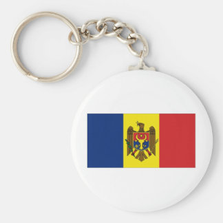 Moldova National Flag Basic Round Button Keychain