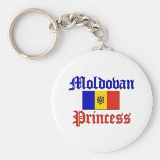 Moldova Princess Basic Round Button Keychain
