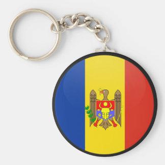 Moldova quality Flag Circle Basic Round Button Keychain