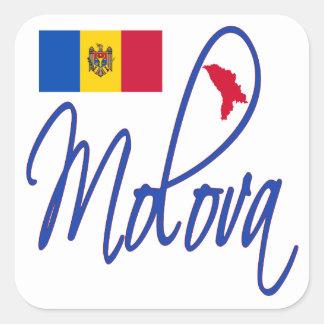 Moldova Square Sticker