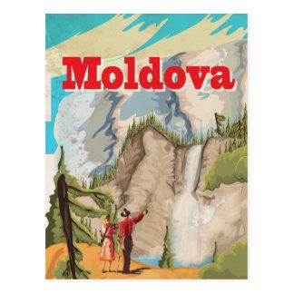 Moldova Vintage Travel Poster Postcard