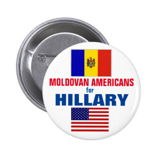Moldovan Americans for Hillary 2016 2 Inch Round Button