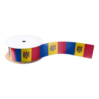 Moldovan flag ribbon satin ribbon