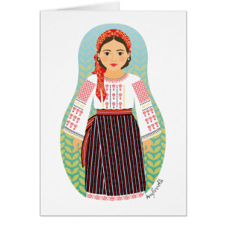 Moldovan Matryoshka Card