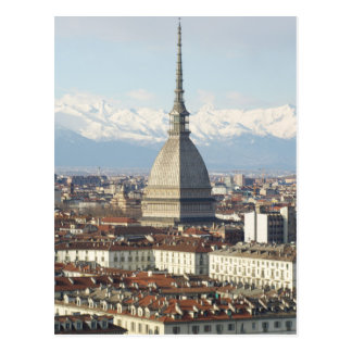 Mole Antonelliana in Turin Italy seen from the hil Postcard